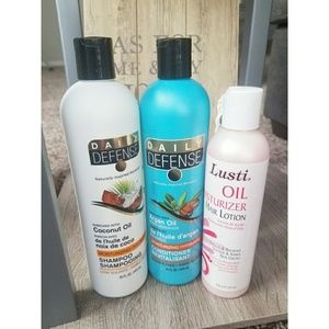DAILY DEFENSE SHAMPOO AND CONDITIONER/ LUSTI HAIR